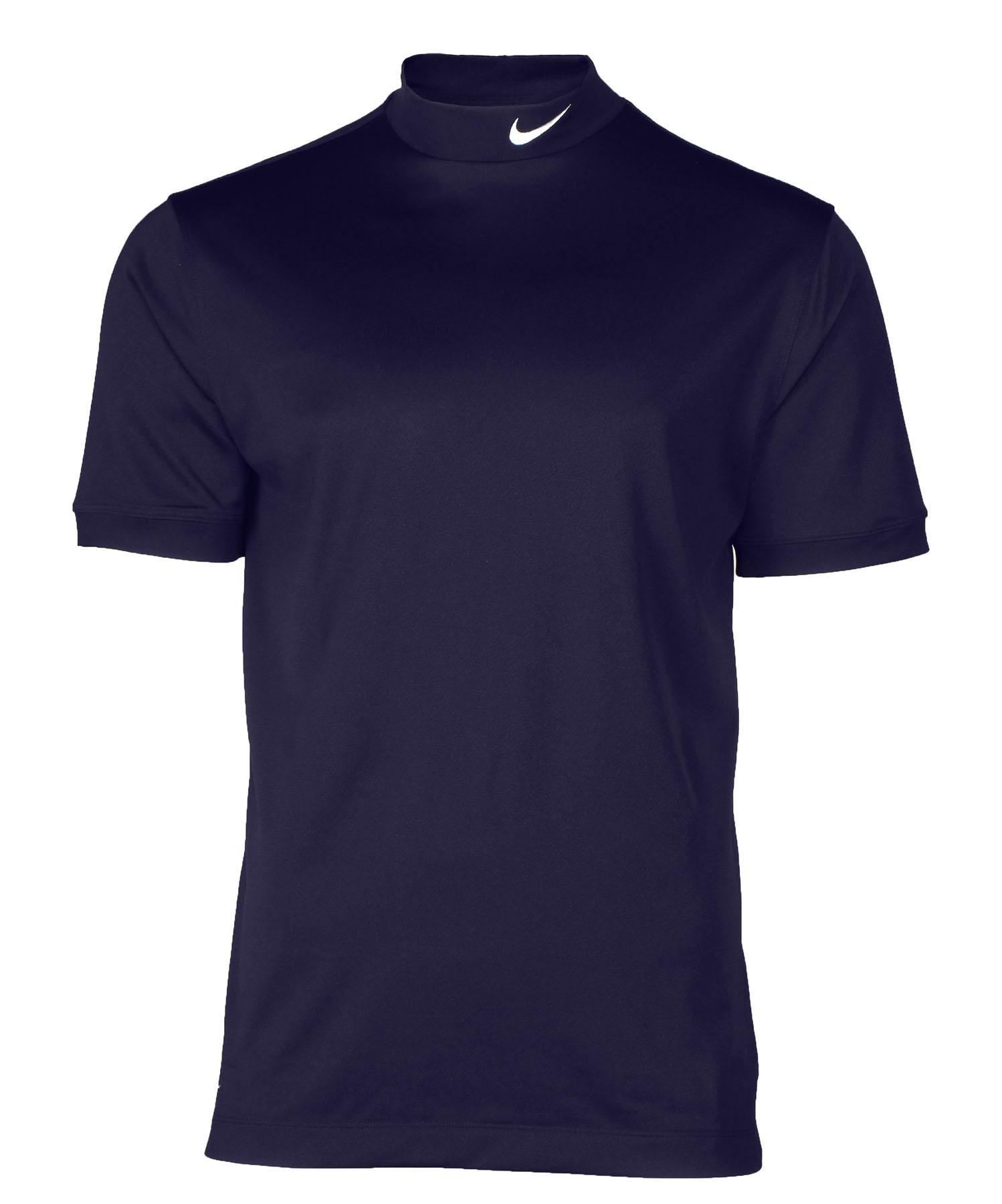 Nike men 39 s tech uv mock neck dri fit short sleeve shirt ebay for Mens mock turtleneck shirts sale