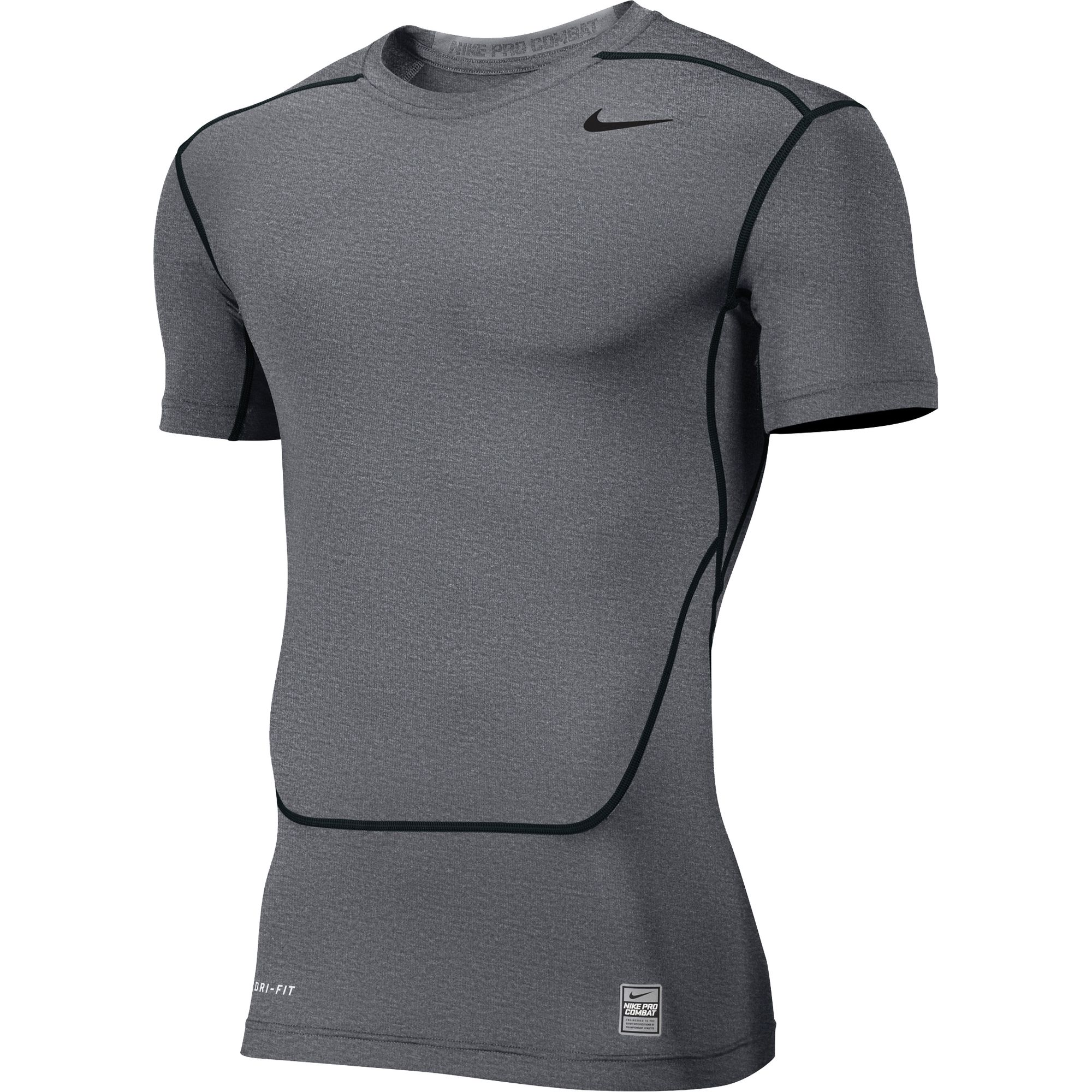 Nike men 39 s dri fit pro combat base layer training shirt ebay for Under armour dri fit long sleeve shirts