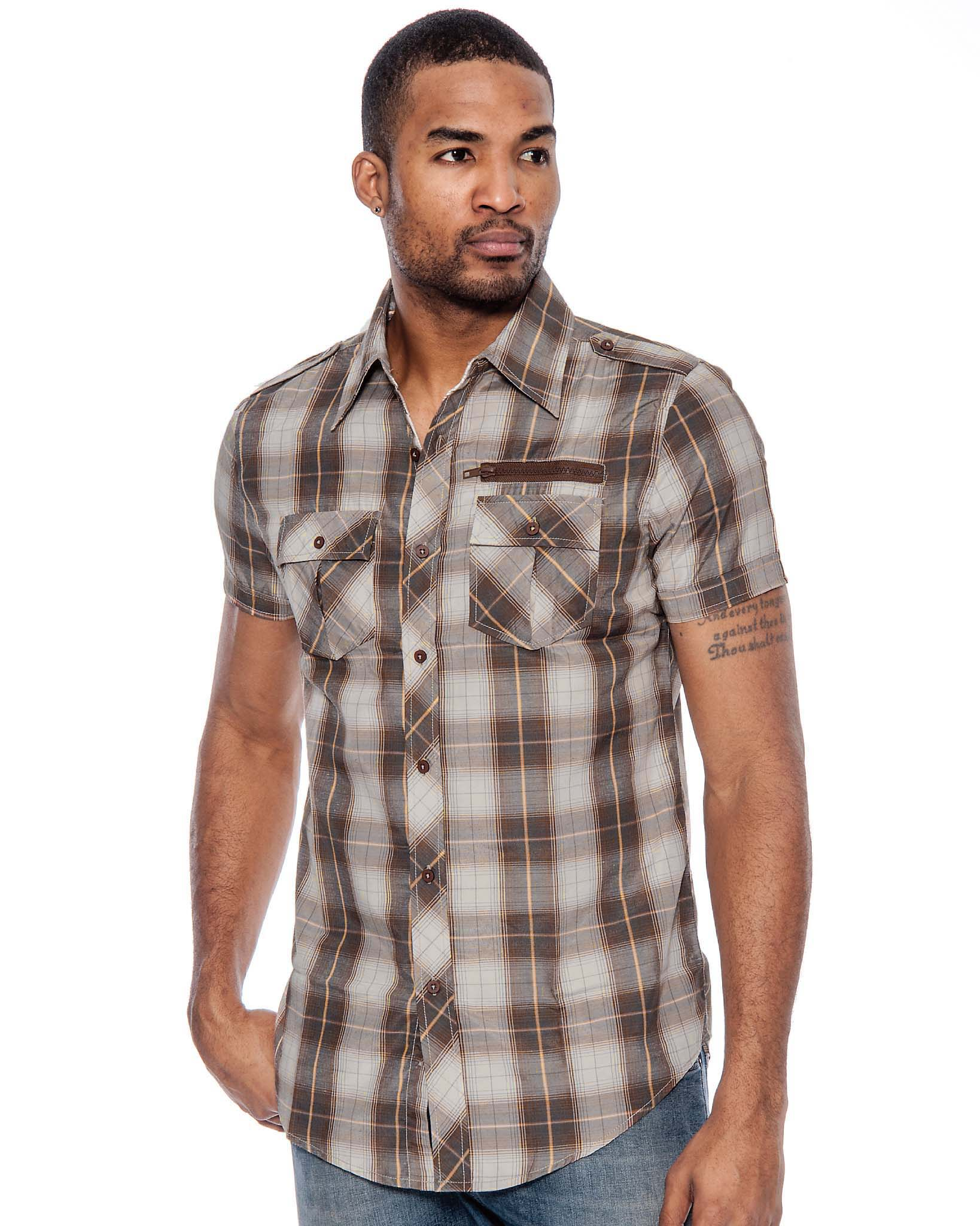 True Rock Men's Ace Slim Fit Plaid Button-Down Shirt | eBay