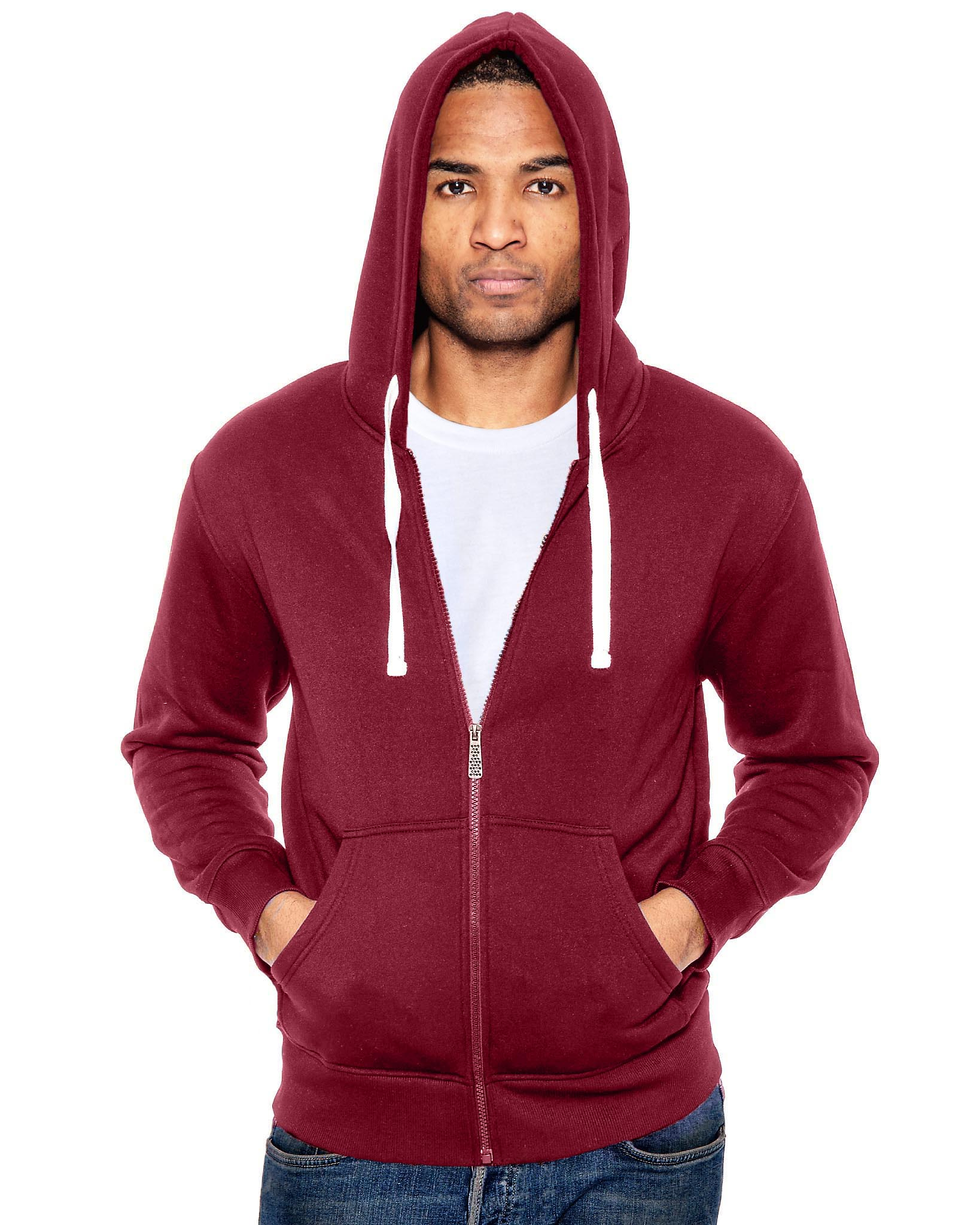 True Rock Men's Soft Fleece Full Zip Hoodie