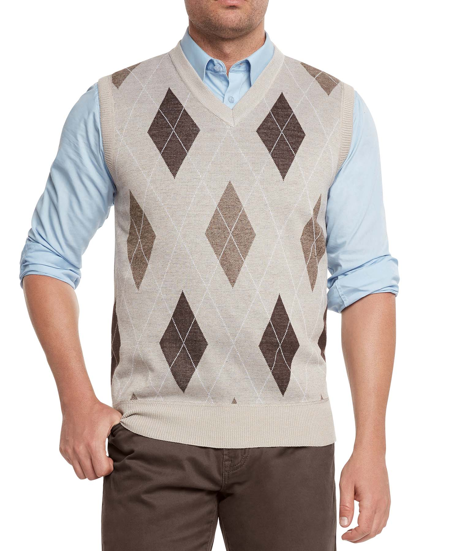 True Rock Men's Argyle V-Neck Sweater Vest | eBay
