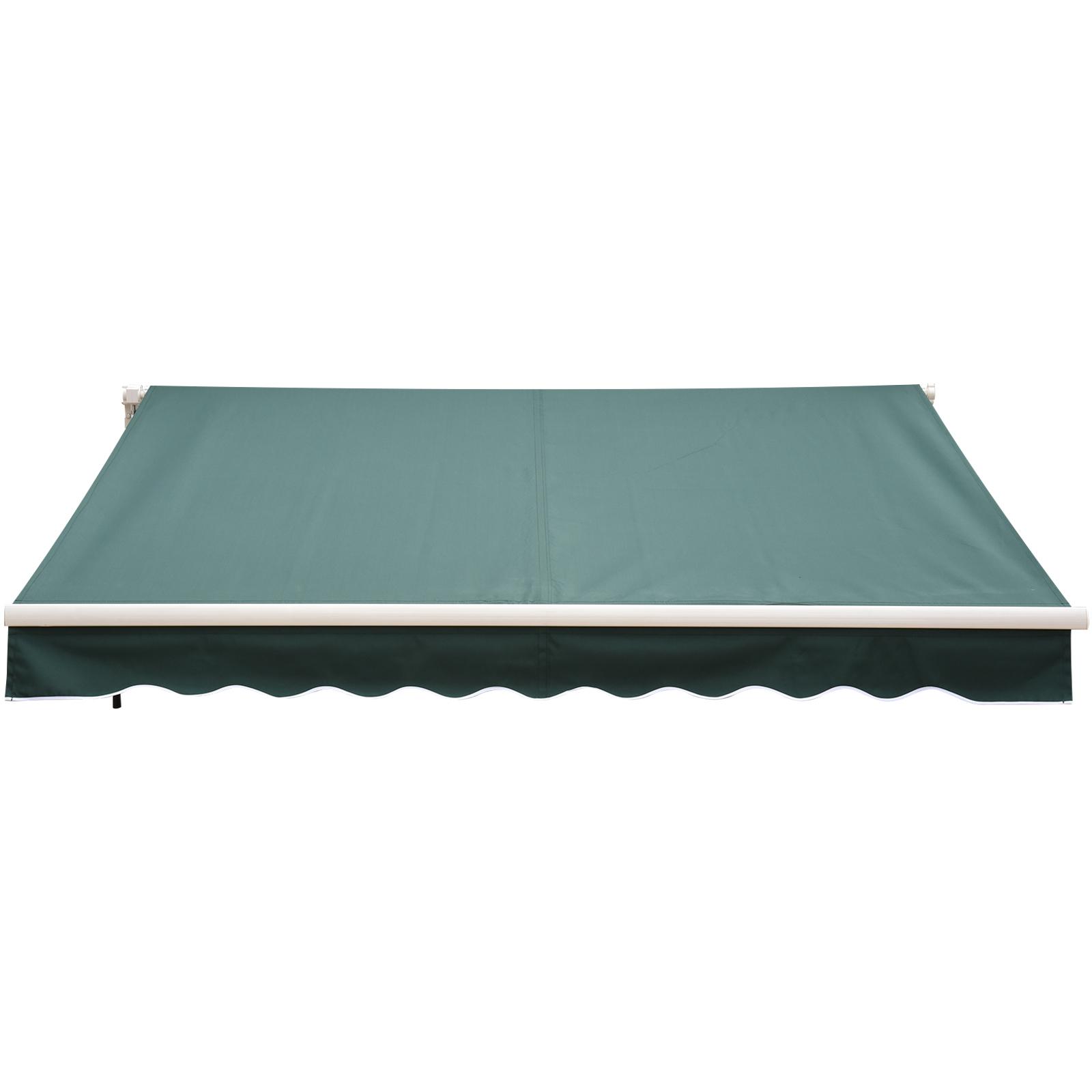 Garden Patio Manual Awning Canopy Sun Shade Shelter Retractable 4 Size 5 Colour