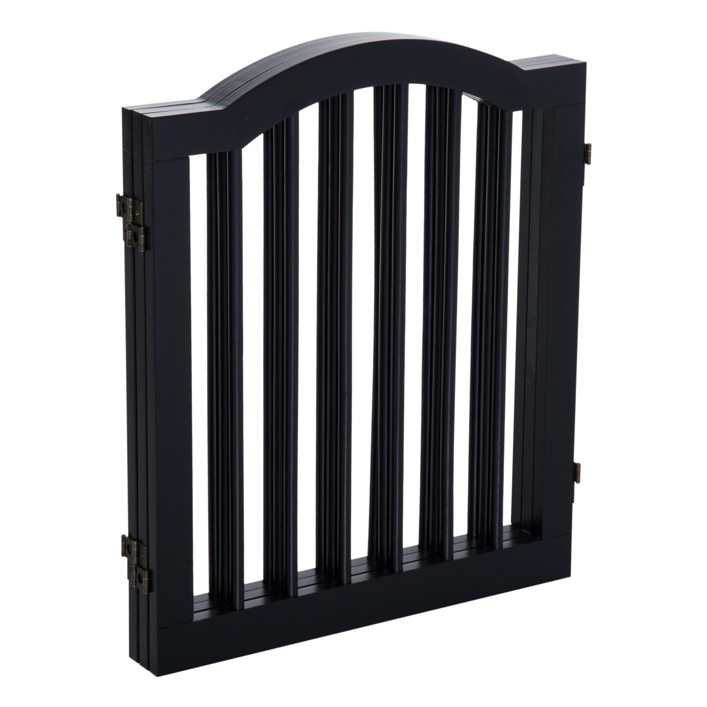 3 Panels Dog Gate Pet Cat Fence Safety Barrier Divider Freestanding Doorway Wood