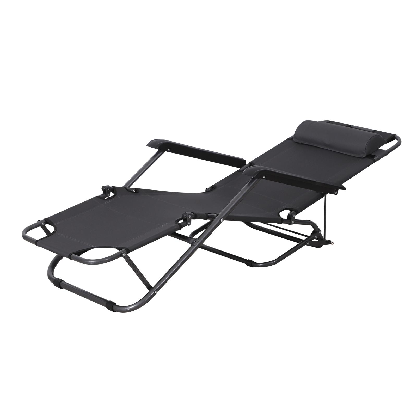 Bain de soleil chaise longue transat de jardin pliable oxford