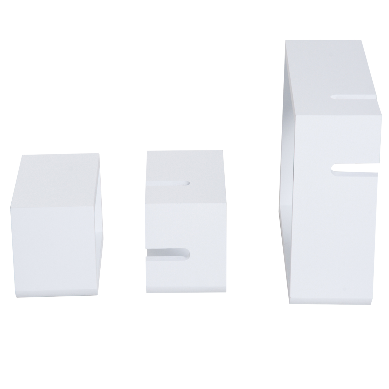 Wandregal Hängeregal mit 3 Fächern Cube Regal Ablage MDF 2 Farbe