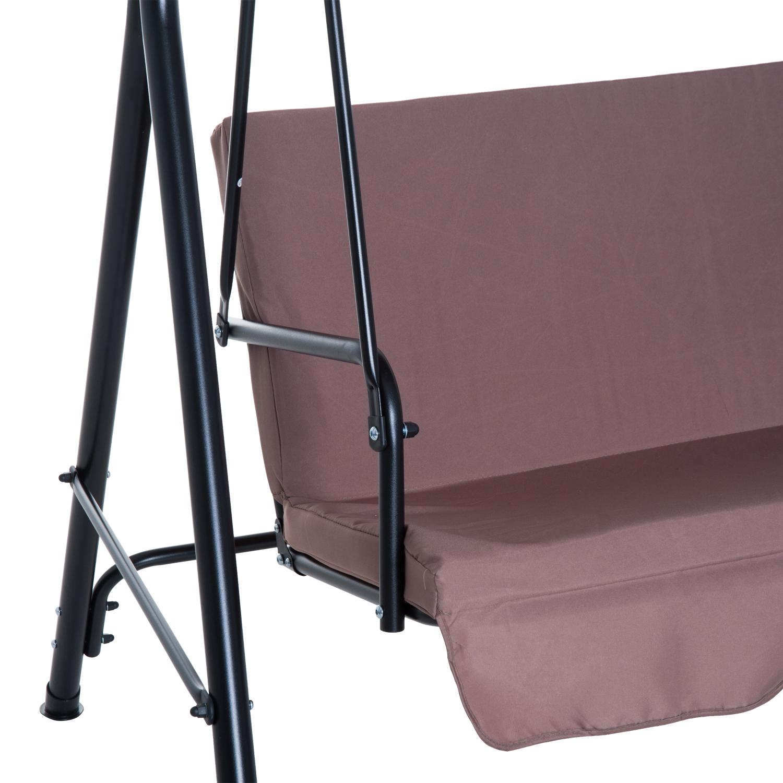 Hollywoodschaukel 3-Sitzer Gartenschaukel Schaukelbank mit Dach 3 Farben