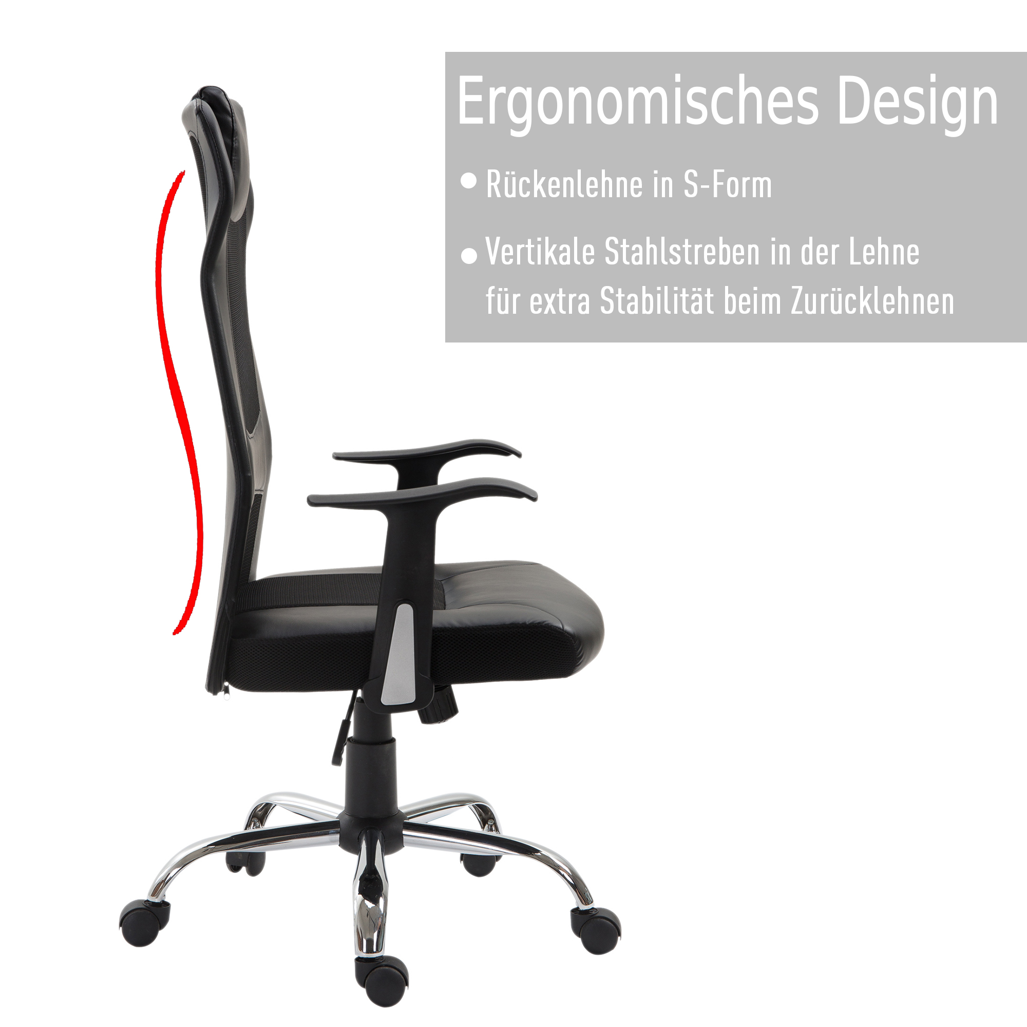 Bürostuhl Drehstuhl höhenverstellbar Chefsessel ergonomisch Schreibtischstuhl