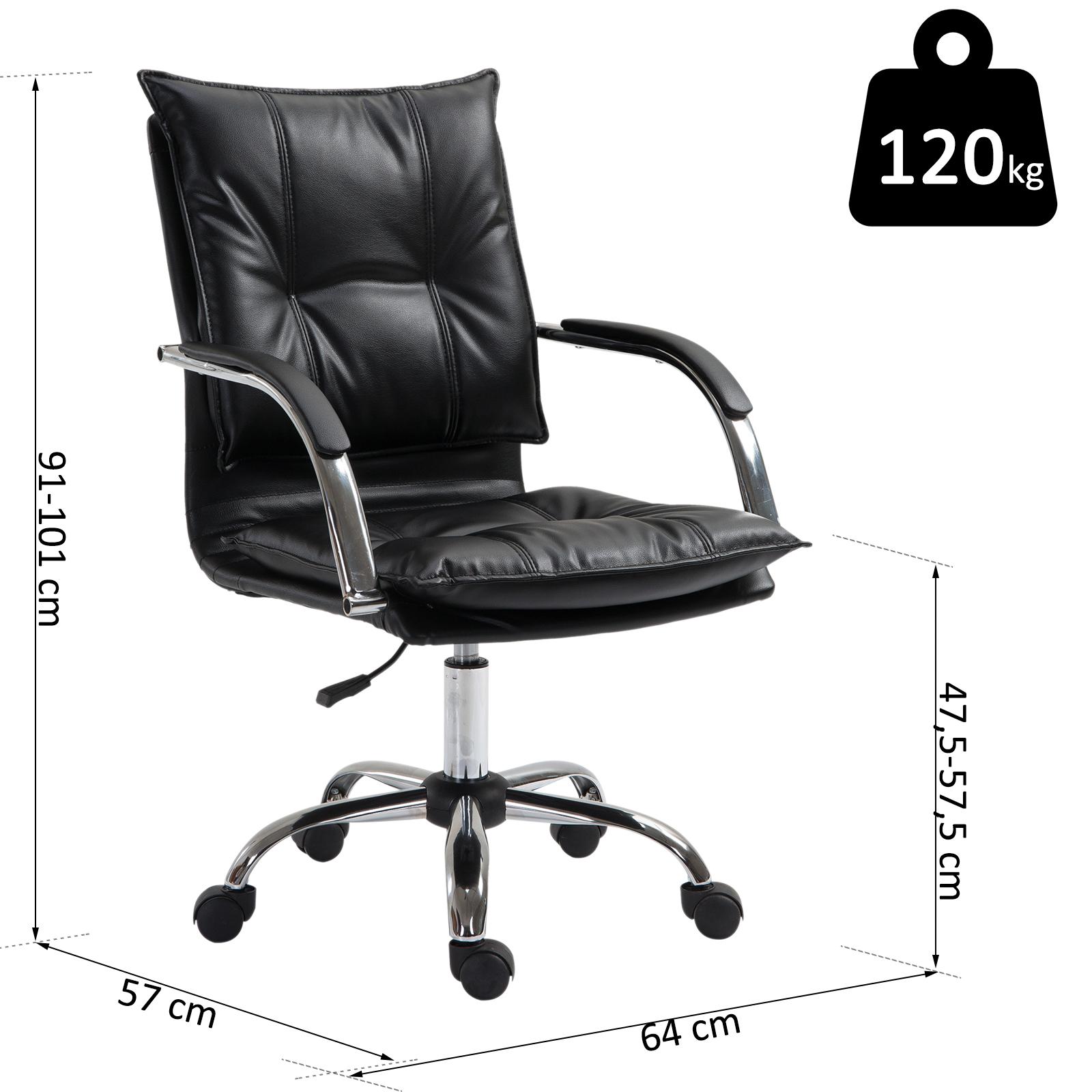 Vinsetto Bürostuhl Drehstuhl höhenverstellbar rollbar Polsterstuhl Chefsessel PU