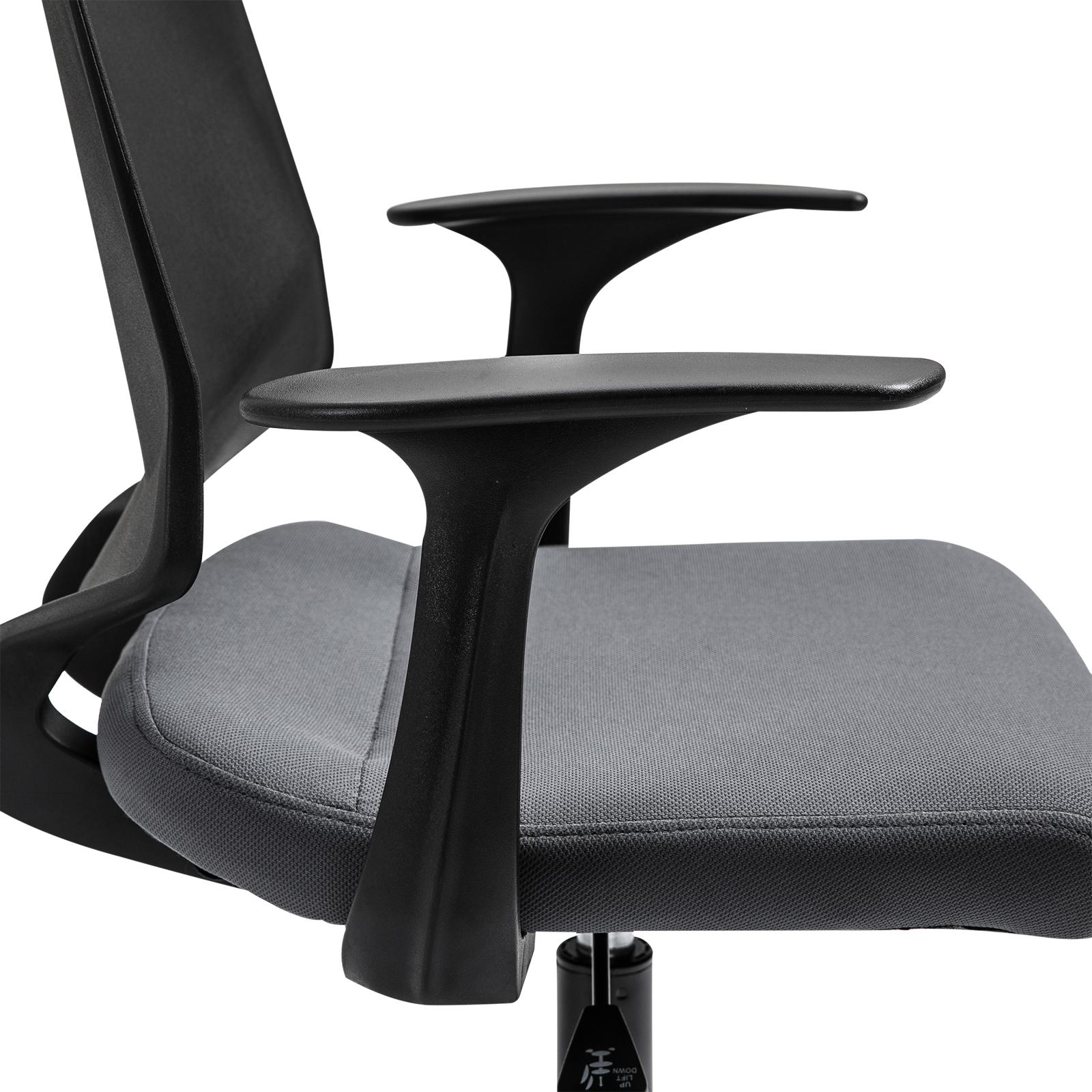 Bürostuhl Drehstuhl Chefsessel Stoffsessel Netzbezug rollbar höhenverstellbar