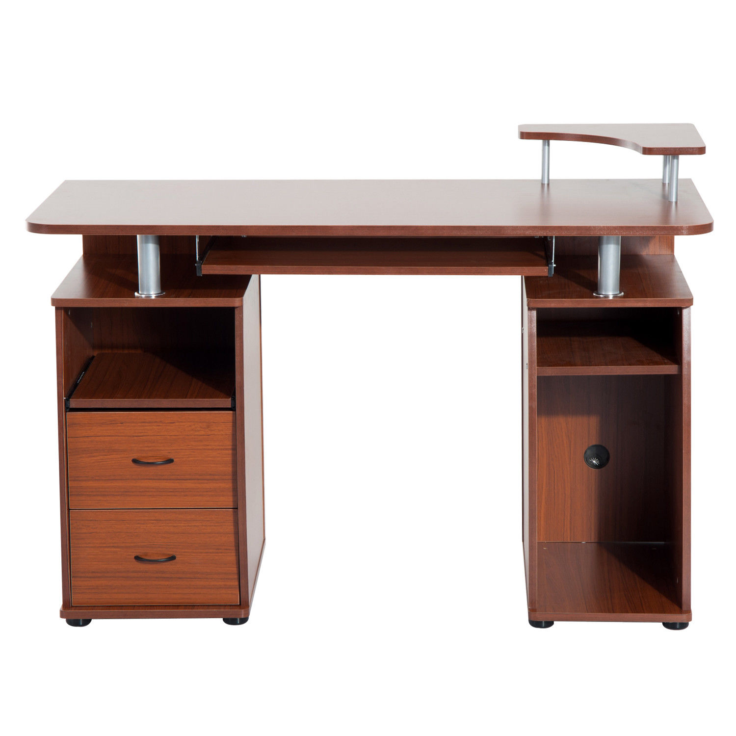 Wooden Pc Computer Desk Desktop Table Home Office Writing Workstation Corner
