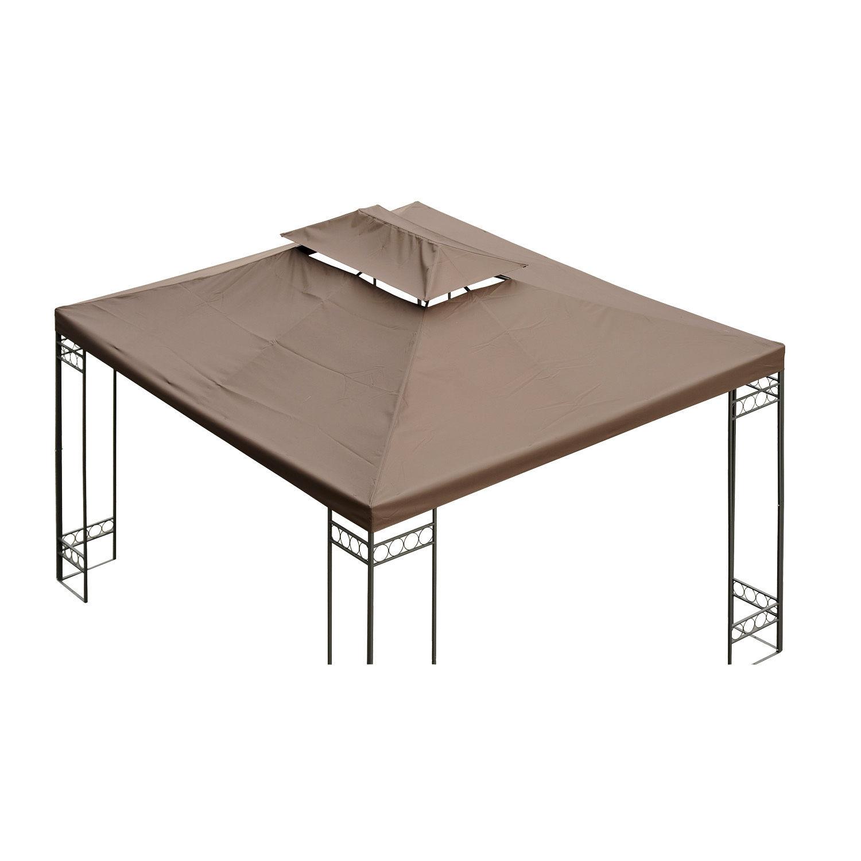 Outsunny Ersatzdach für Metall-Gartenpavillon Partyzelt Pavillon Gartenzelt Dach