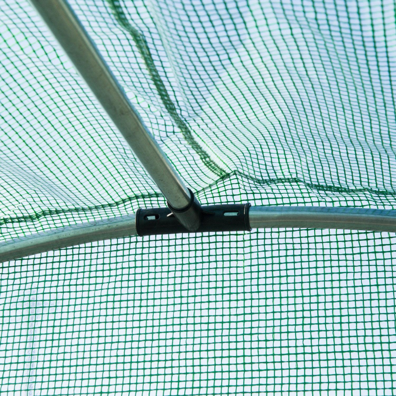 Outsunny Gewächshaus Treibhaus Tomatenhaus mit Fenster Gitterfolie Grün