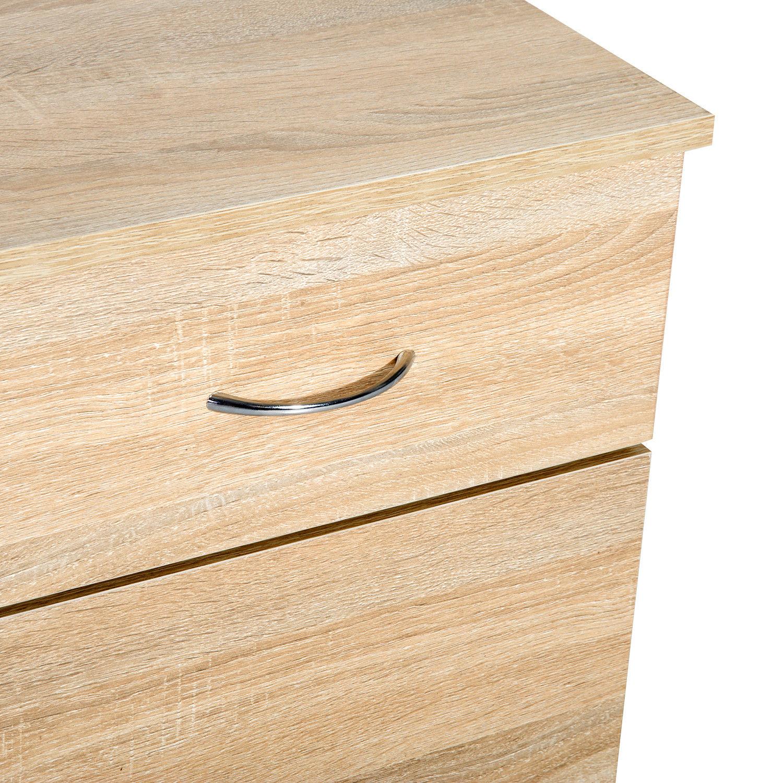 Homcom Kommode Rollcontainer Bürocontainer Schubladenschrank auf Rollen 2 Farben
