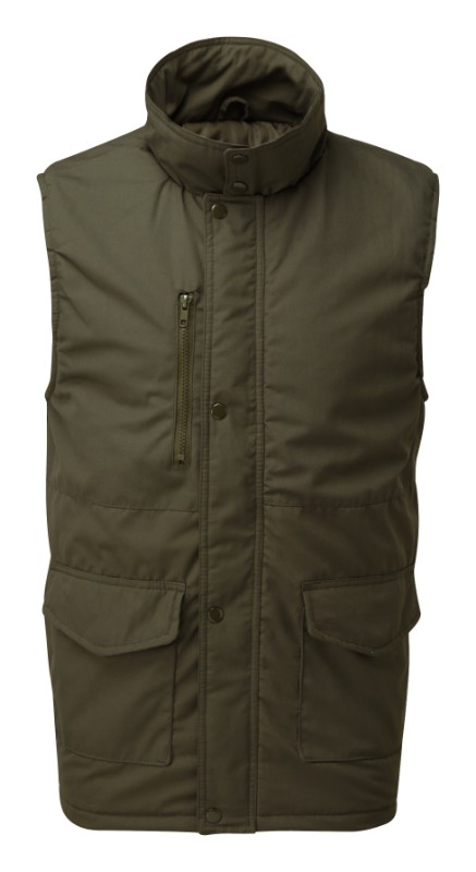 CASTLE Fortress 222 Wroxham green navy or black quilt-lined body-warmer S-3XL
