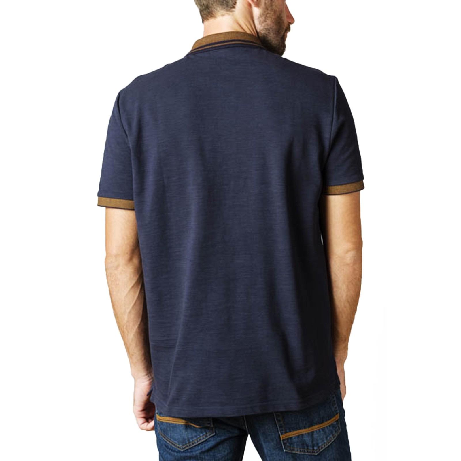 Ben Sherman Birdseye navy blue polo shirt
