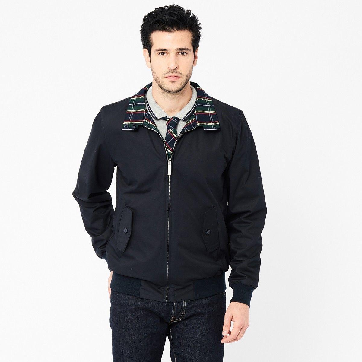 Original genuine Harrington Ltd reversible navy jacket size XS-2XL