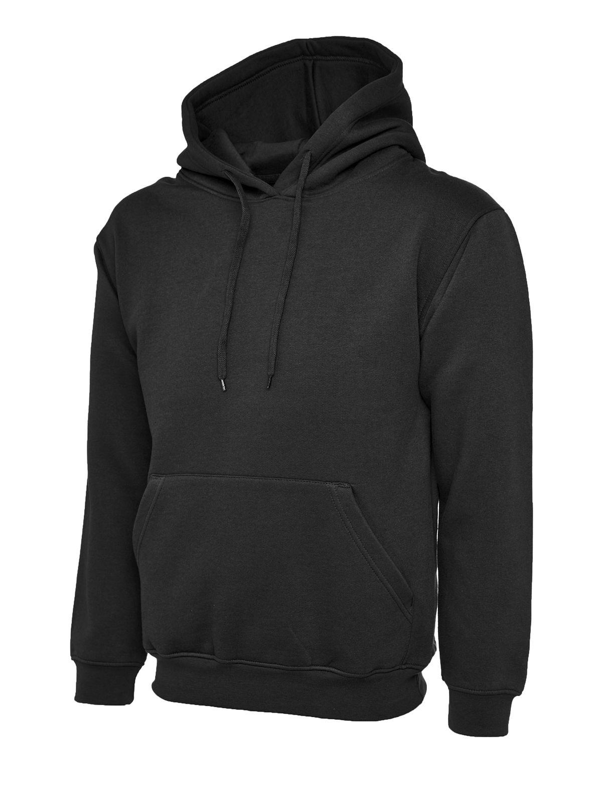 Uneek UC501 black or navy blue premium 350g hooded sweatshirt hoodie size S-2XL