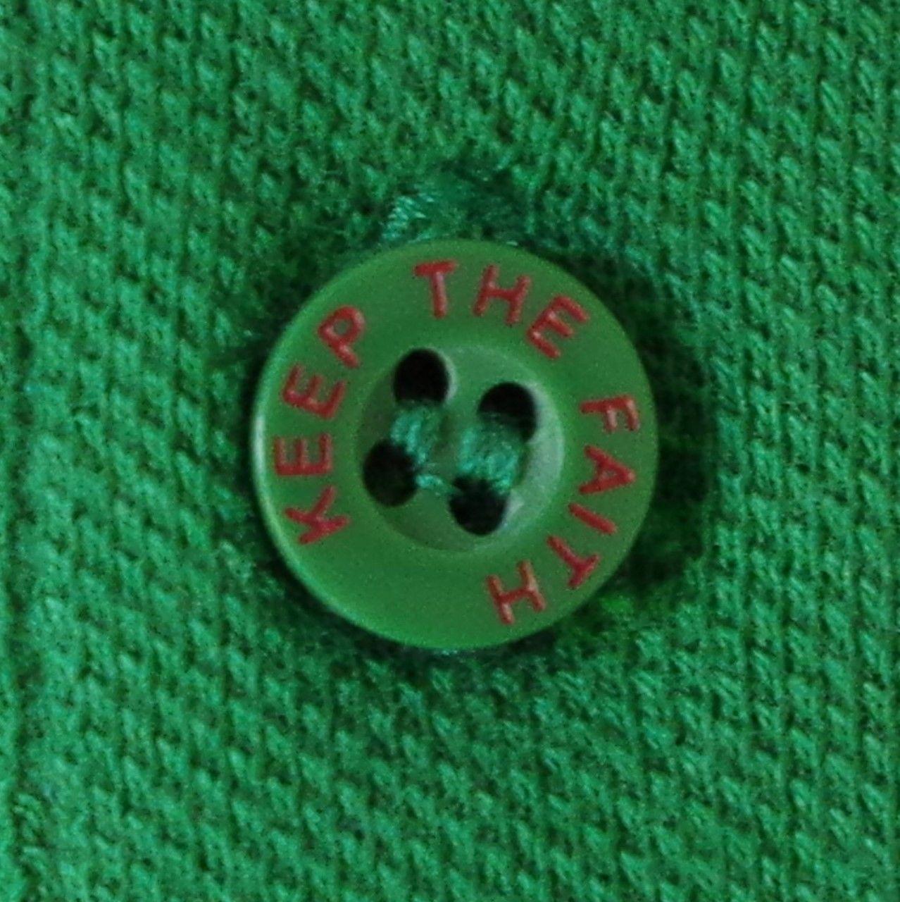 Warrior Soul 45 conservare la fede Green Cotton Polo Taglia Small 4XL