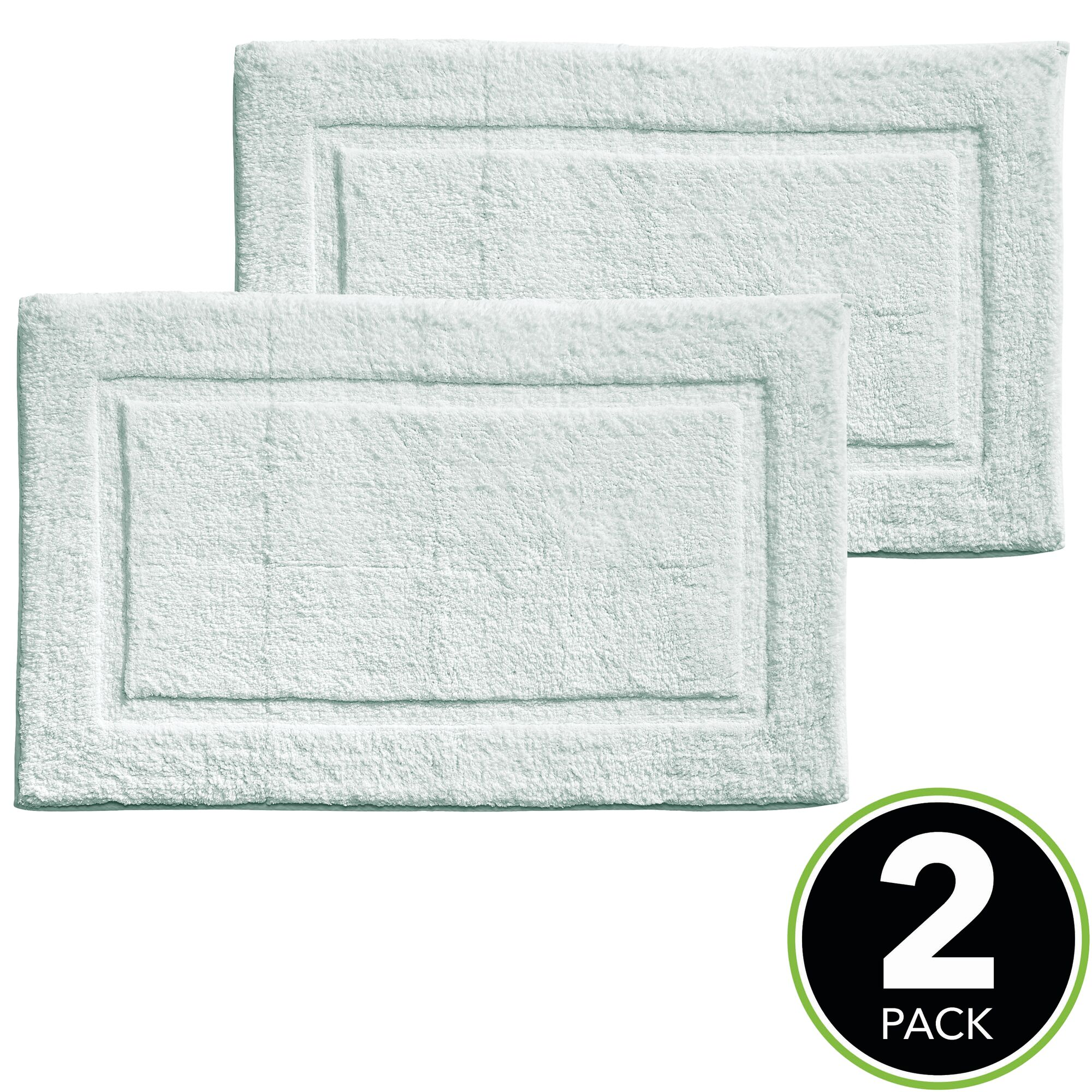 """34/"""" x 21/"""" 2 Pack mDesign Soft Cotton Spa Mat Rug for Bathroom"""
