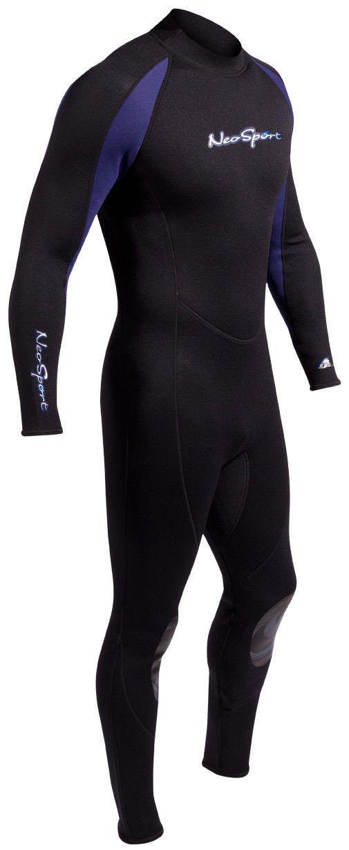 NeoSport Men/'s 3//2mm Full Wetsuit Premium Neoprene Black//Blue