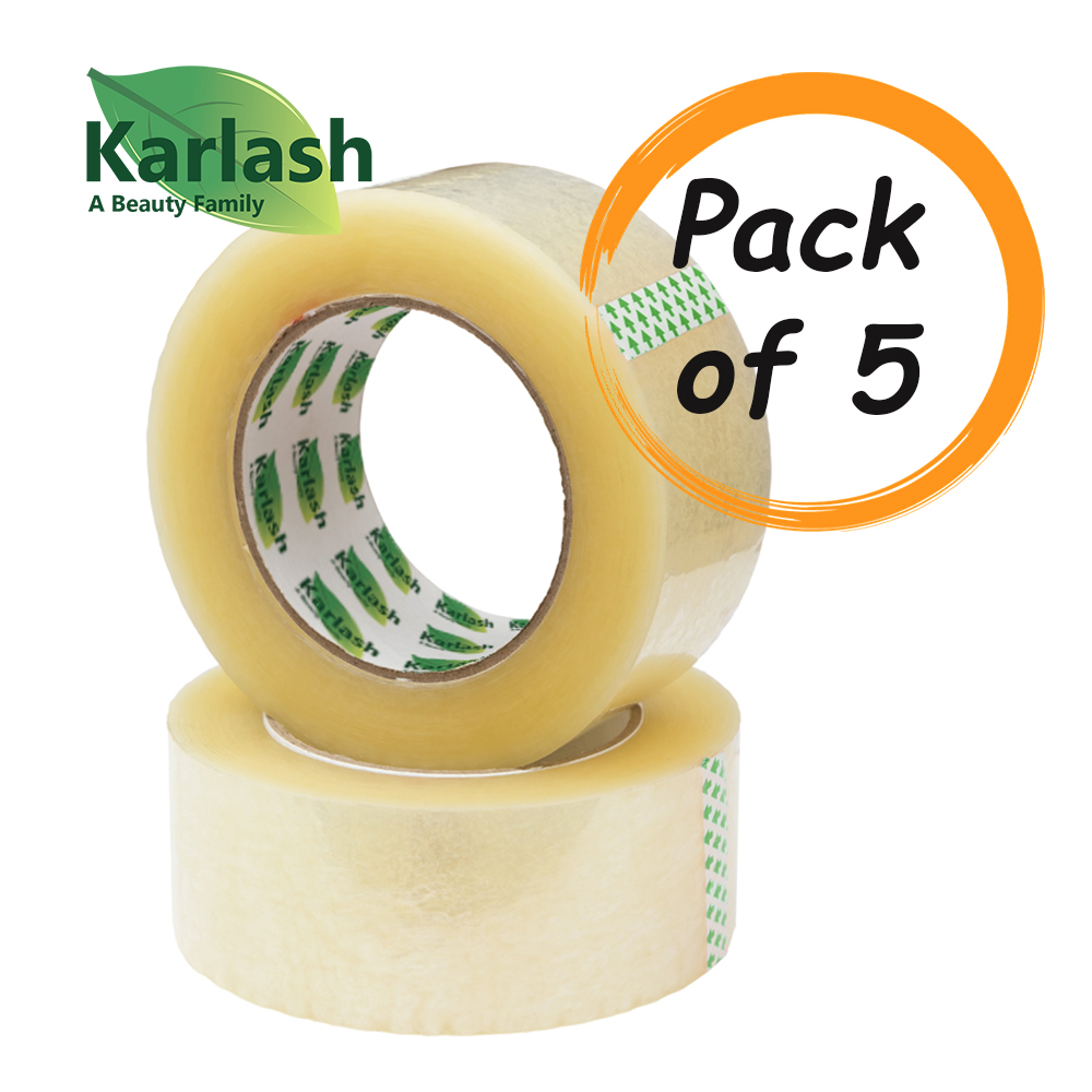"""Karlash Large Adhesive Packing Clear Tape 2 Inch Wide 2/"""" x 110 Yard Refill Roll"""
