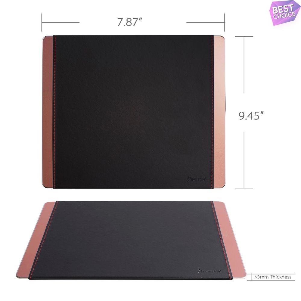Non-Slip Leather Aluminum Mouse Pad Gaming Mouse Mat For Computer Laptop