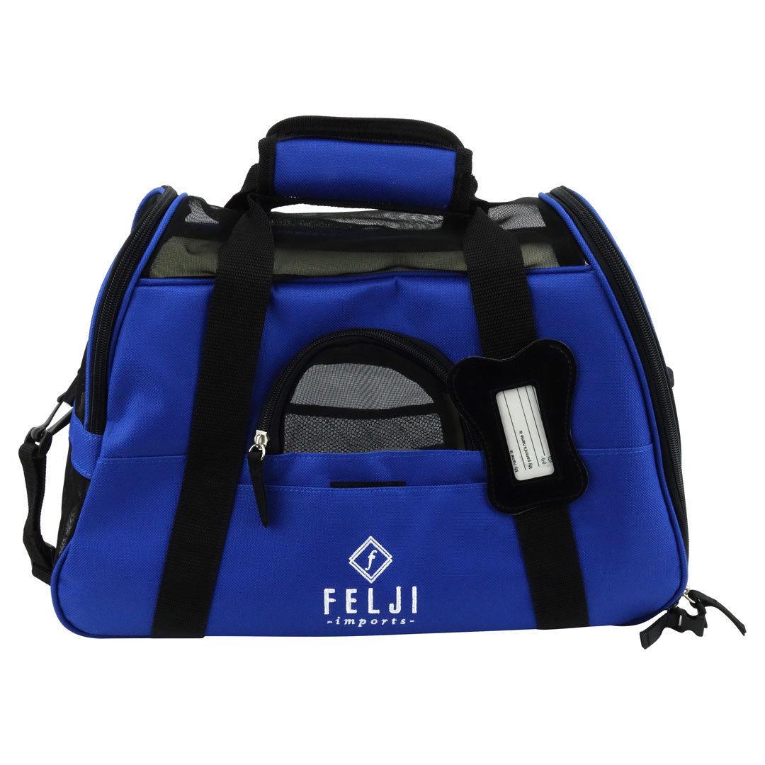 Felji Small Pet Carrier Soft Sided Cat Dog Comfort Travel Tote Shoulder Bag