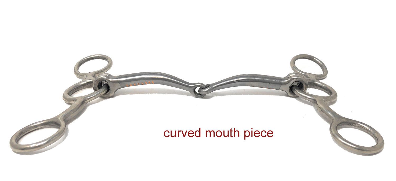 Jr Cowhorse bit with Sweet Iron Mouth Stainless Steel Cheeks