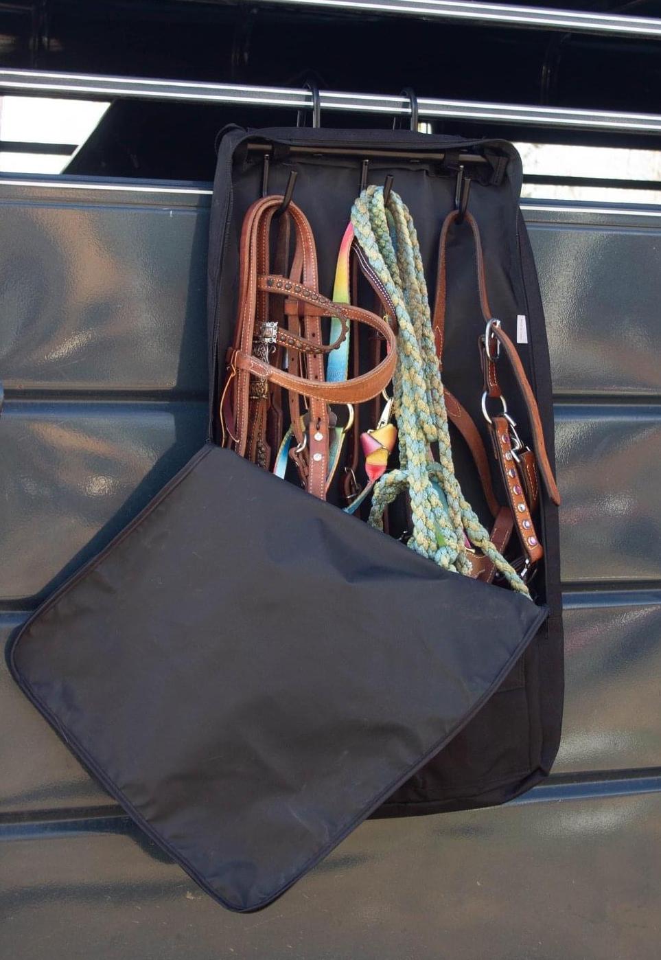 Deluxe Bridle Halter Tote Bag Carrier Tack Racks 600D Multi Pockets