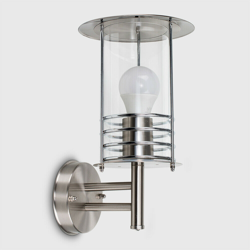 IP44 Outdoor Wall Light LED Stainless Steel Patio Lighting Walkway Drive Lamp
