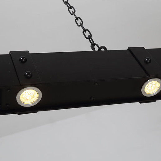 Rust//Black Linear LED Kitchen Island Ceiling Pendant Light in Industrial Style