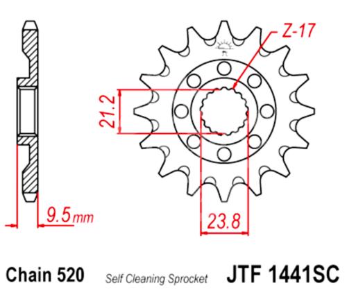 520 JT Sprockets and Drive Chain Kit for Suzuki RMZ 450 2008-2018