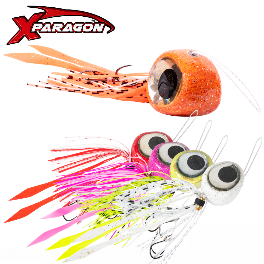 X-Paragon Glow Rubber Jigging Lure Tai Kabura Slider Zulu Set 100G