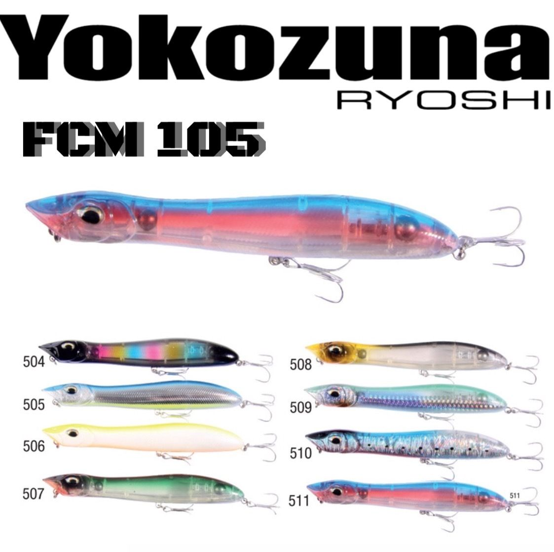 YOKOZUNA RYOSHI TOPWATER SPINNING LURE FCM 105//12g