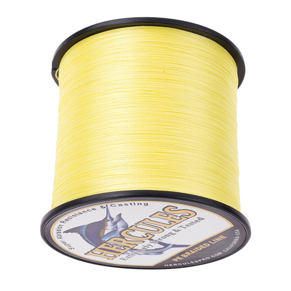 Braid Fishing Line 1500M 1640Yds 6-100LB Test Color Select Hercules PE 4 Strands