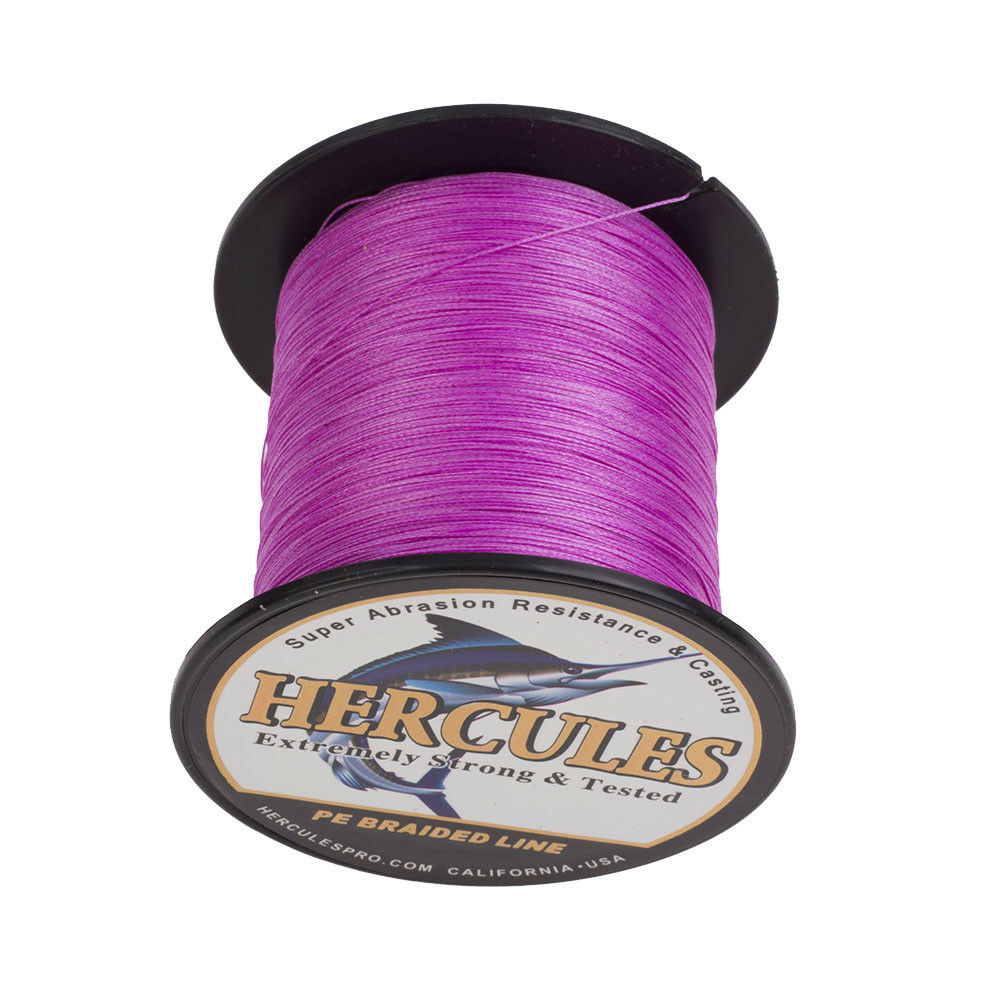 Hercules Red Pink 10-300lb Extreme PE Braided Fishing Line 300//500//1000m Strands