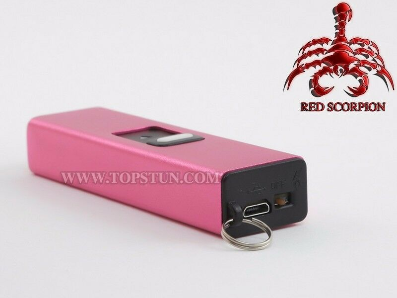 LED Flashlight Rechargeable Self Defense Red Scorpion Mini Stun Gun 1502-6BV