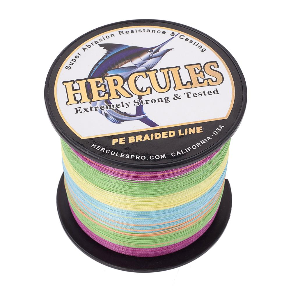 Hercules Braid Fishing Line 1500M 1640Yds 6-100LB Test Color Select PE 4 Strands