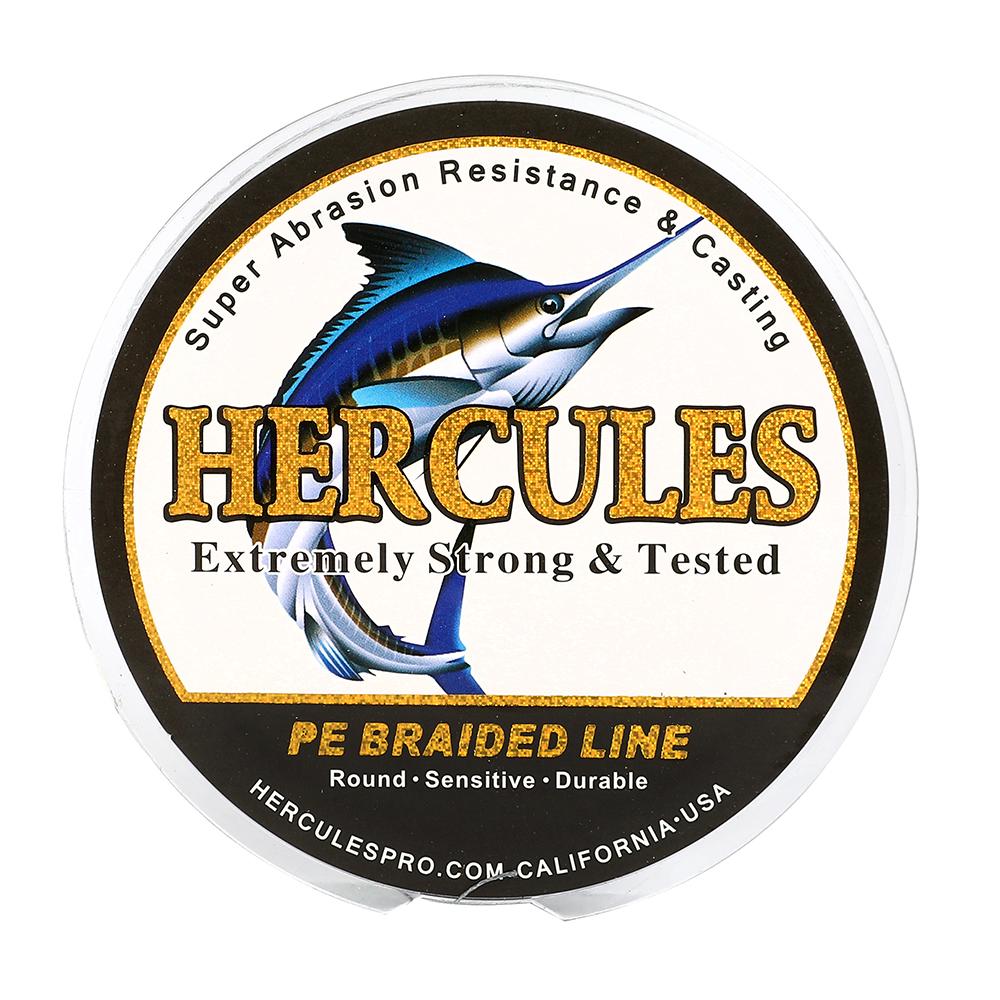 Hercules 4 8 9 12 Strands PE 6-300lbs 109-2187yds Braided Fishing Line Gray Bass