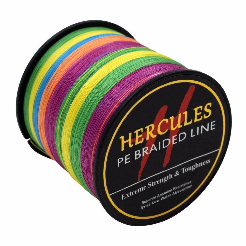 Multicolor 6lb-100lb Test Hercules PE Geflochtene Angelschnur Strong 4S Salzwass