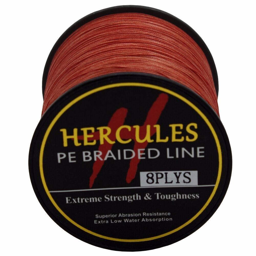 8 brins ligne de pêche tressée 500M 10-300lb Super Hercules Braid Fishing Line