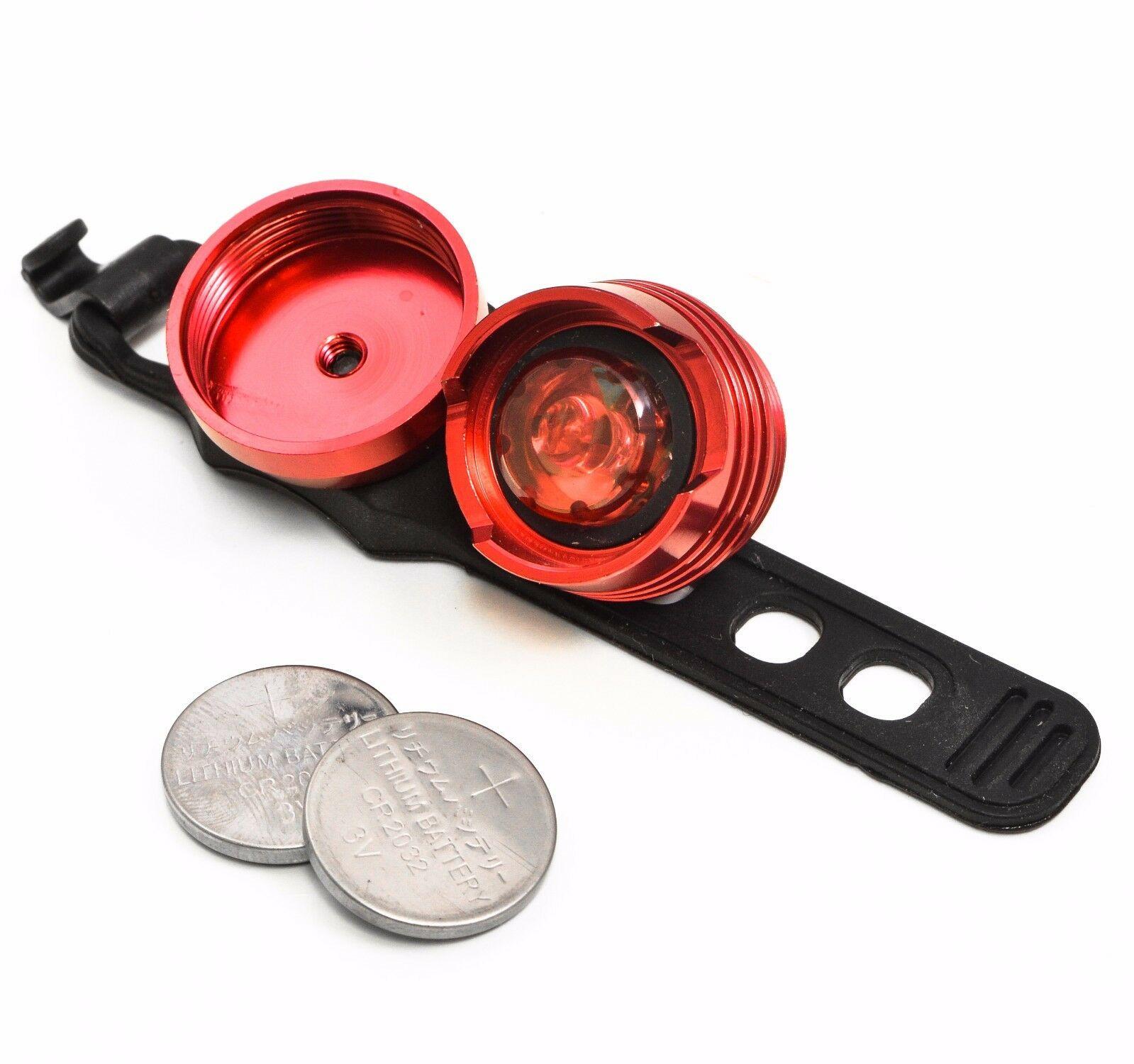 Lumintrail Waterproof LED Safety Bike Light Set White Headlight Red Taillight