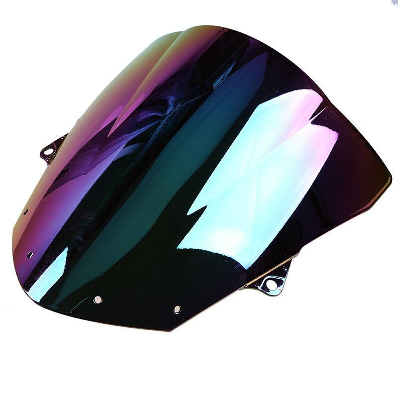 Front Motorcycle Windshield Windscreen for Kawasaki Ninja ZX6R 09-15//ZX10R 16-17