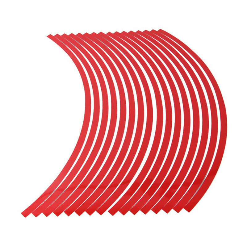 16pcs 10//12//17//19/'/'Motor Car Bike Wheel Sticker Reflective Rim Stripe Tape Decal