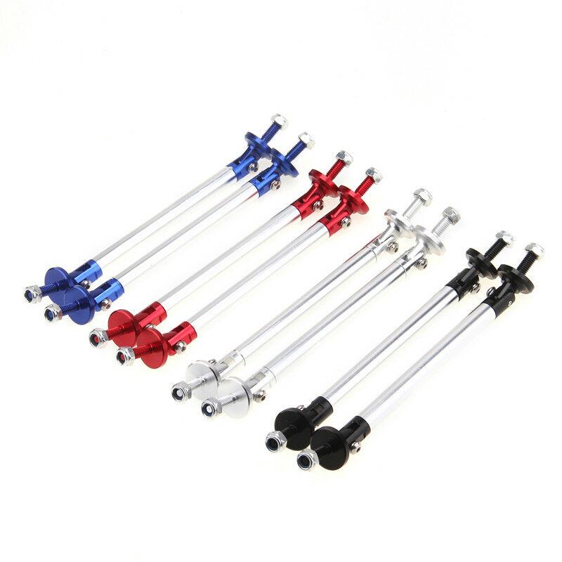 Silver Adjustable Front Bumper Lip Splitter Strut Rod Tie Support Bars For Audi