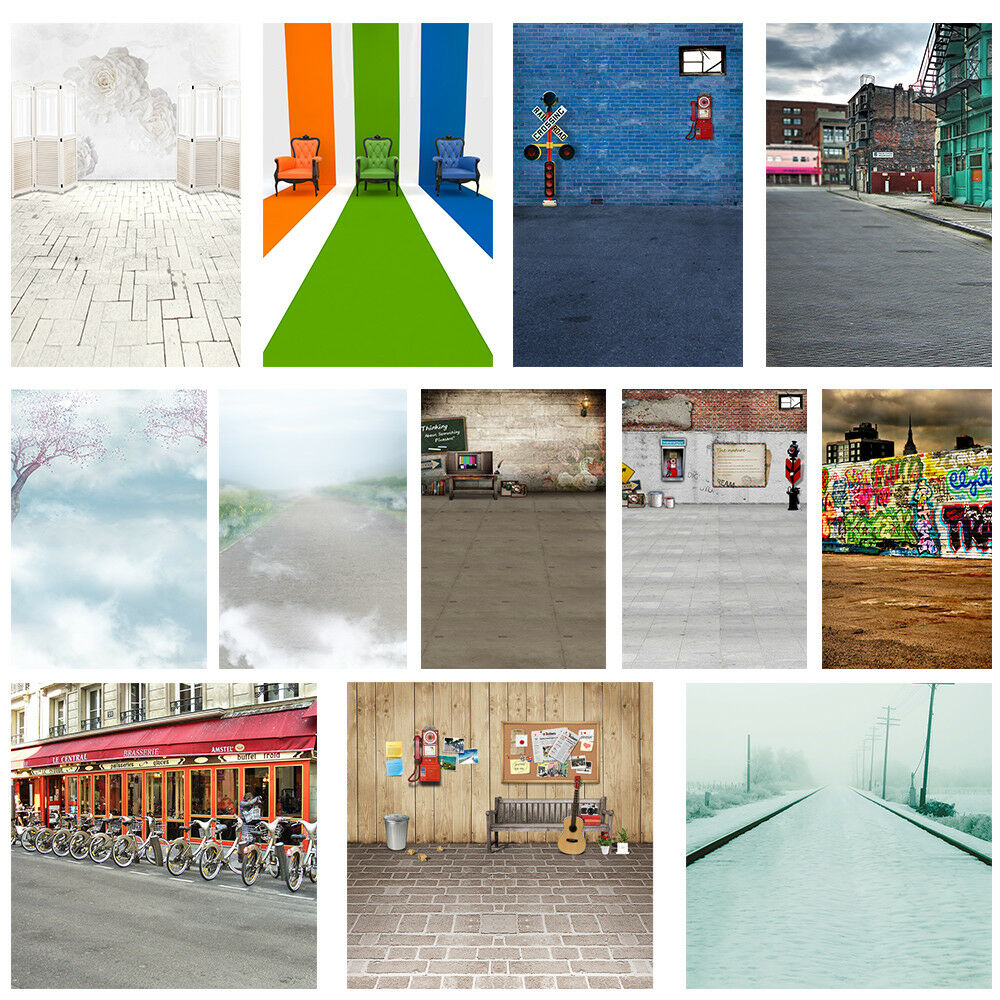 UK Retro Art Street Snap Pier Photography Background Backdrops Prop 3x5ft//5x7ft