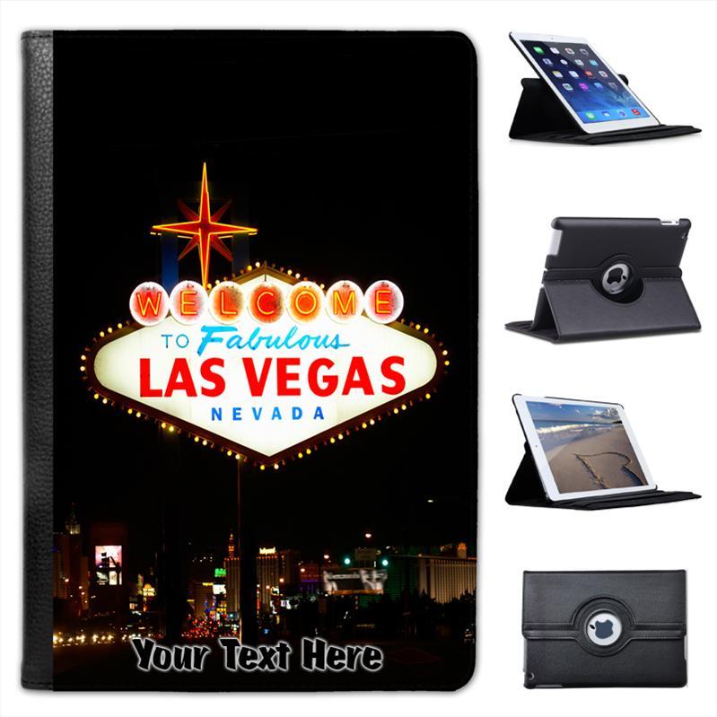 Benvenuti a Las Vegas Folio Custodia in pelle per iPad Mini /& Retina