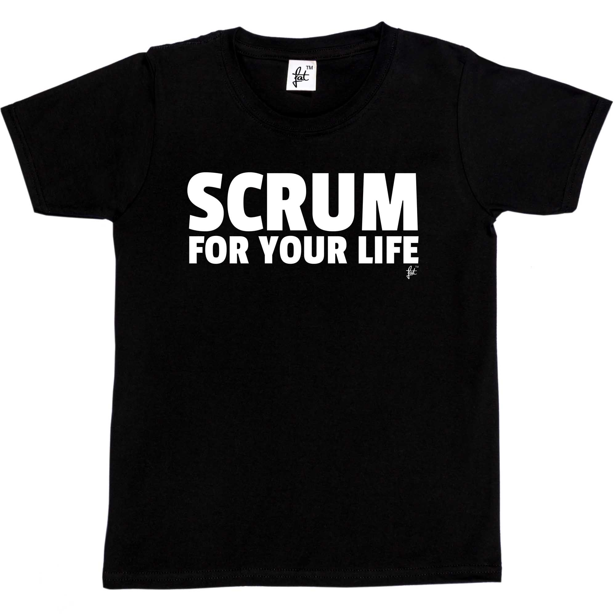 Girls T-Shirt Scrum For Your Life Fun Rugby Rugby World Cup Kids Boys