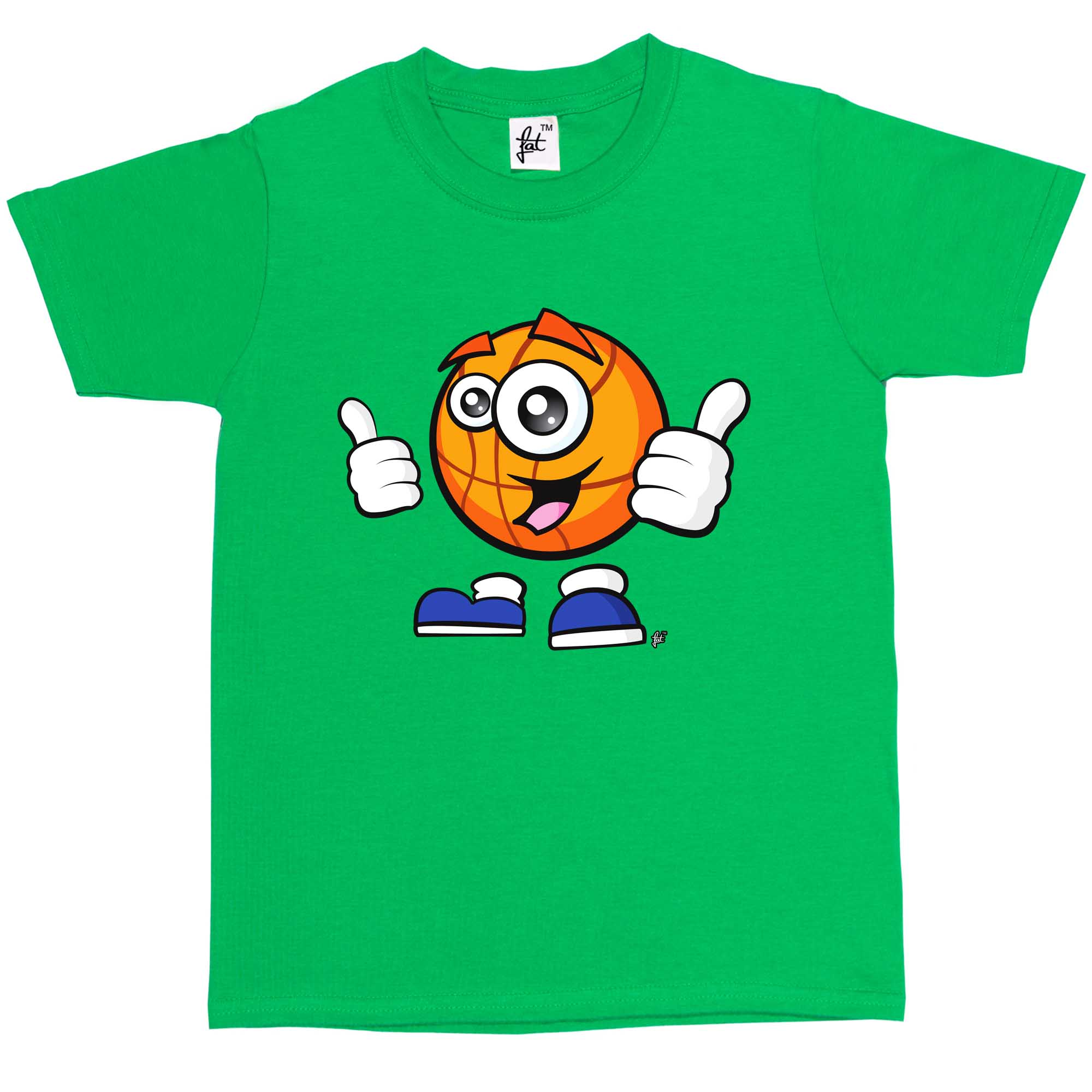 Sporticon Happy Basketball Thumbs Up Ready To Play Kids Boys T-Shirt
