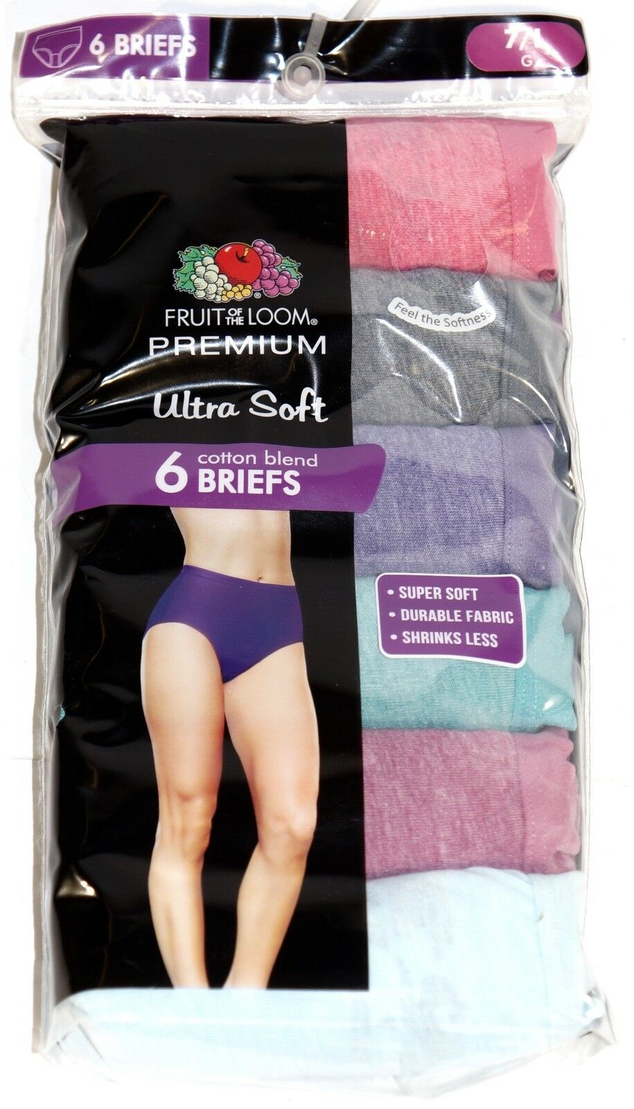 New 6 Pack Women/'s Briefs Premium Ultra Soft Underwear by Fruit of the Loom